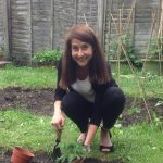 Liz visits community gardening project