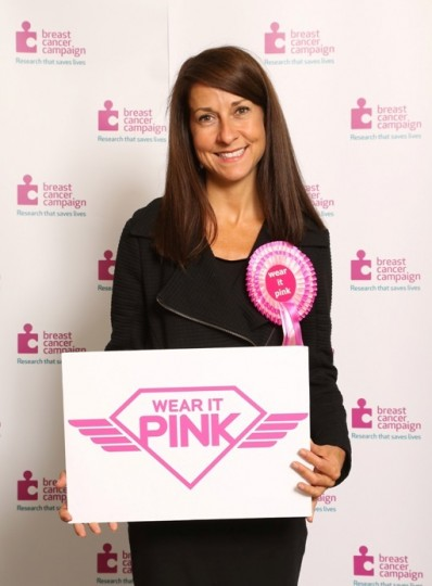 Breast cancer awareness Wear it Pink photocall Sep 2013