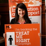 Liz backs campaign to improve care for people with MS