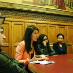Liz meets students from DMU in Parliament