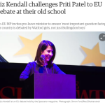 Challenging the Leave campaign to an EU debate