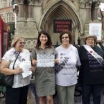 Liz joins pension campaigners in Leicester city centre